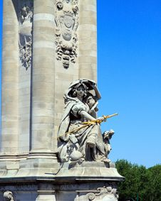 Parisian Statue Royalty Free Stock Images
