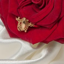 Free Ring With Rose Stock Photo - 10032680