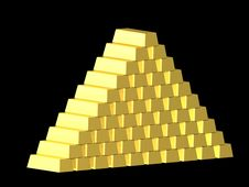 Free Gold Pyramide Royalty Free Stock Photography - 10033467