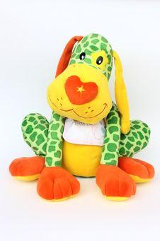 Free Colorful Dog Of Plush Royalty Free Stock Photos - 10033888