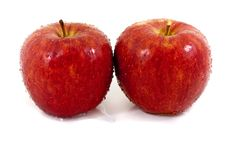 Free Two Red Apples Stock Photography - 10034232