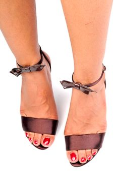 Free Female Legs With Sandals Stock Photos - 10034653