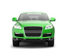 Free Luxury Green Crossover Front View Stock Image - 10034731