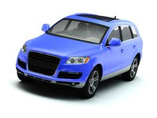 Free Blue Isolated Comfortable SUV Stock Photos - 10034753