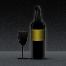 Free Wine Bottle Royalty Free Stock Image - 10035046