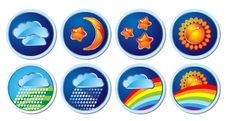 Free Weather Icons Royalty Free Stock Image - 10035106