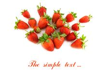 Group Of A Ripe Strawberry Royalty Free Stock Image