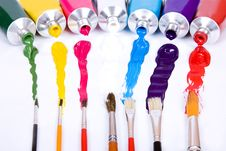 Tube Of Paint Stock Photography