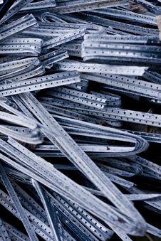 Free Pile Of Crushed Aluminum Sticks Stock Images - 10037434