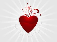 Free Abstract Valentine Heart Background Royalty Free Stock Photography - 10037687