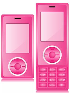 Free Pink Mobile Phone Stock Image - 10037891