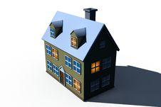 Free Isolated Big House Stock Image - 10038471