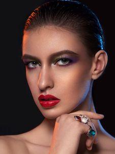 Free Beauty, Eyebrow, Lip, Cheek Royalty Free Stock Images - 100335649
