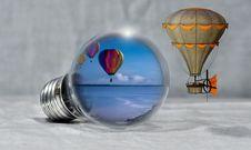 Free Hot Air Balloon, Hot Air Ballooning, Sky, Water Royalty Free Stock Images - 100342009
