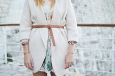 Free White, Clothing, Outerwear, Neck Stock Images - 100342124