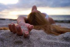 Free Sand, Sea, Sun Tanning, Hand Stock Images - 100347854