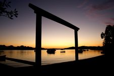 Free Dawn Noosa River. Stock Images - 100369624