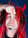 Free Night Red Hair Davil Stock Images - 10040894