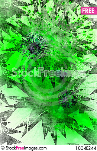 Free Green Background With Patterns Stock Images - 10048244
