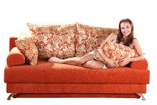 Free Lady On A Divan Royalty Free Stock Photo - 10040505