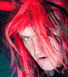 Free Night Red Hair Davil Royalty Free Stock Images - 10040889