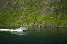 Free Fjord Fishing Boat Stock Photography - 10042192