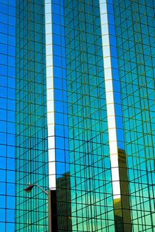 Free Mirrored Glass Office Tower And Seagull Stock Photo - 10042380