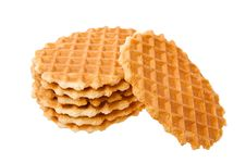 Free Waffles Isolated In White Background Royalty Free Stock Image - 10043256