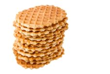 Free Waffles Isolated In White Background Royalty Free Stock Image - 10043266