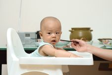 Free Feeding Baby Stock Photography - 10043392
