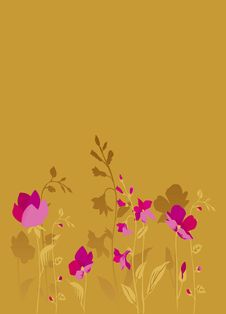 Free Pink Flowers_bronze Royalty Free Stock Photography - 10044547