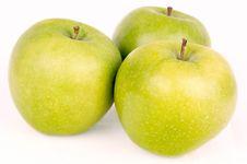 Free Three Apples Stock Photo - 10045600