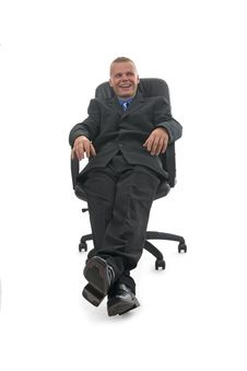 Free Merry Businessman. Stock Photography - 10045822