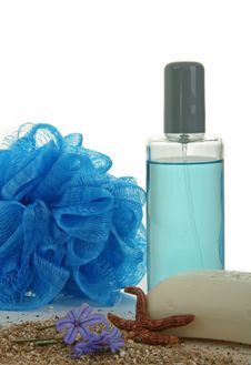 Blue Perfume And Soap Royalty Free Stock Image