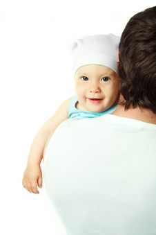 Free Father With A Baby Royalty Free Stock Photo - 10047795