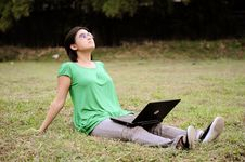 Free Asian Girl In The Park Stock Image - 10049211