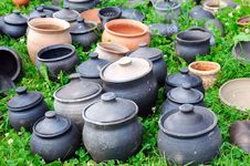 Free Antique Clay Pots Royalty Free Stock Images - 10049649