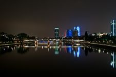 Frankfurt By Night Stock Photography