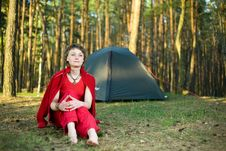 Free Relaxation In Forest Royalty Free Stock Photo - 10050195