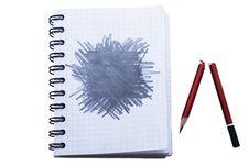 Free Notepad With Broken Pencil Stock Photos - 10050283