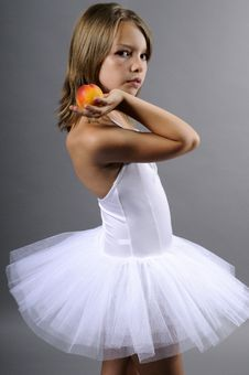 Free Girl With Peach Royalty Free Stock Photography - 10050787