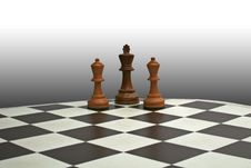 Free Chess King And Bishops Stock Images - 10050854