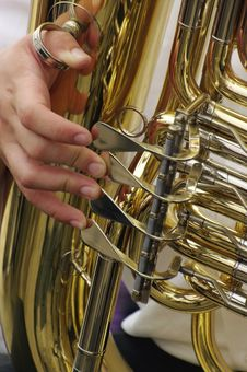 Free Tuba Player - Detail Stock Image - 10051421