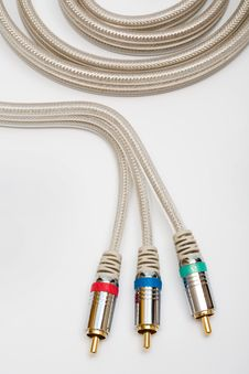 Free Component Video Cable Royalty Free Stock Photography - 10051437