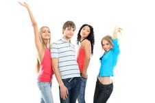 Free Dancing Young People Stock Photography - 10052312