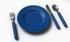 Free Knife, Fork, Spoon And Plate Royalty Free Stock Image - 10052716