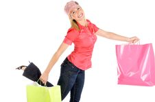 Free Girl Shopping Royalty Free Stock Images - 10053179