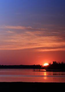 Blazing Sunset Royalty Free Stock Images