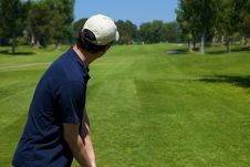 Free Golfer Preparing To Swing Stock Images - 10053504