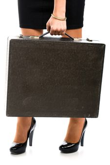 Free Woman And Attache Case Stock Image - 10054581